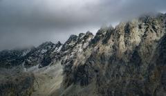 הרים בערפל